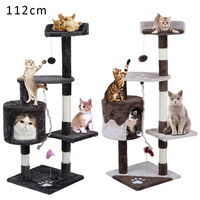 Free Delivery Cat Toy House Bed Hanging Balls Tree Kitten Furniture Trees Toy Solid Wood for Cats Climbing Frame Animals Toys