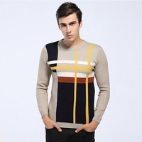 2017 New Autumn Winter Vintage Sweater Men Fashion Pullovers Colourful Fashion Knitted Sweaters