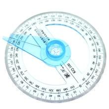 1 шт. Горячая канцелярские принадлежности круговой 10 см пластик 360 градусов указатель линейка транспортира угол искатель качели руки школьные принадлежности