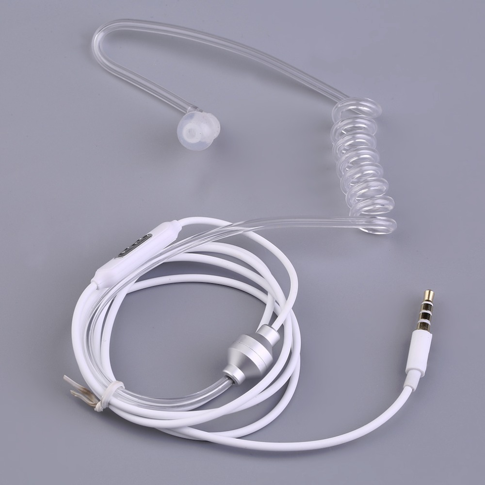 Hot New Single Stereo Secret Service Air Tube 3.5mm Anti Radiation Mobile Phone Headsets Earphone With Air Pipe KY-011