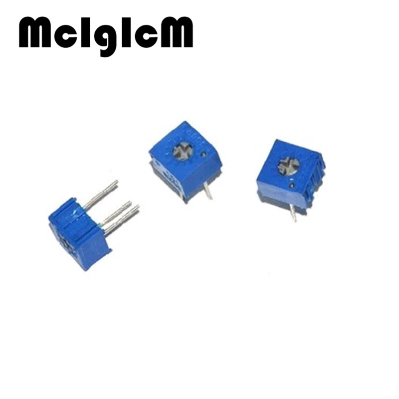 Image 2 - MCIGICM 1000pcs 3362P 103 Trimpot Trimmer Potentiometer 100 200 500 1K 2K 5K 10K 20K 50K 100K 200K 500K 1M ohm Variable resistor-in Potentiometers from Electronic Components & Supplies