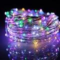 Nueva Versión $ number Pies 480 LED Luces de Cadena de Alambre de Cobre Cadena de luces de Estrellas con Mando a distancia para Bodas Navidad