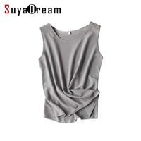 Women Silk Tank Tops 100 Natural Silk Shirt Sleeveless Chiffon Tanks Solid Basic Top Shirt 2017