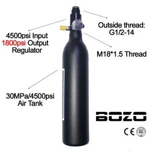 Image 4 - ペイントボール PCP ダイビング登山空気タンクシリンダー 4500psi/30MPA 0.2 0.35 0.45L HPA 高圧縮ボトル M18 * 1.5 レギュレータ