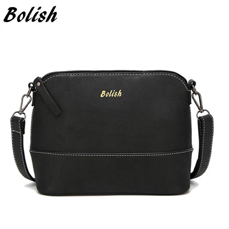 Bolish 새로운 패션 nubuck 가죽 여성 가방 Messegner 가방 작은 쉘 숄더 가방 패치 워크 지퍼 사슴 펜던트