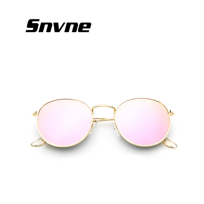 2018 retro gafas de sol redondas mujeres hombres diseñador de la marca gafas de sol para las mujeres de Aleación De espejo gafas de sol mujer gafas de lentes sol