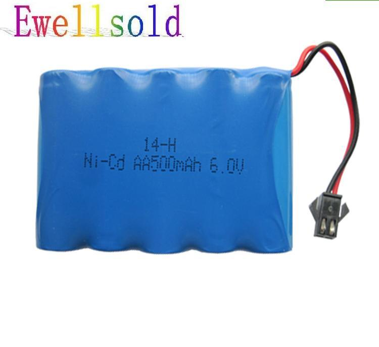 6v Battery 500mah Nicd Ni-cd Aa Batteries Battery Pack 6v Battery For Toy Car RC Boat Toys 2pcs/lot Free Shipping