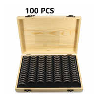 Adjustable Antioxidative Collection Case Coin Storage Box Home Simple Commemorative Container Wooden Display Capsules Universal