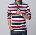 Autumn Spring Long Sleeve Men T shirt Casual Outdoors Stripe camisetas T-shirt Plus SIze M L XL XXL XXXL XXXXL 5XL 0968