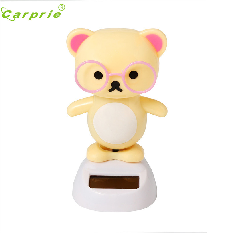 Hot Solar Powered Dancing Animal Cute Bear Swinging Animated Bobble Bear Dancer Doll Toy For Kids Toys & Hobbies Learning & Education