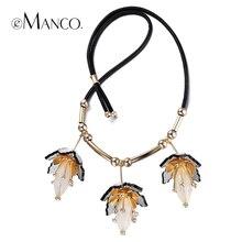 //Collar de flores colgantes de la resina de acrílico//collares de cuero lindo niñas nueva moda de cobre joyas eManco NL12924