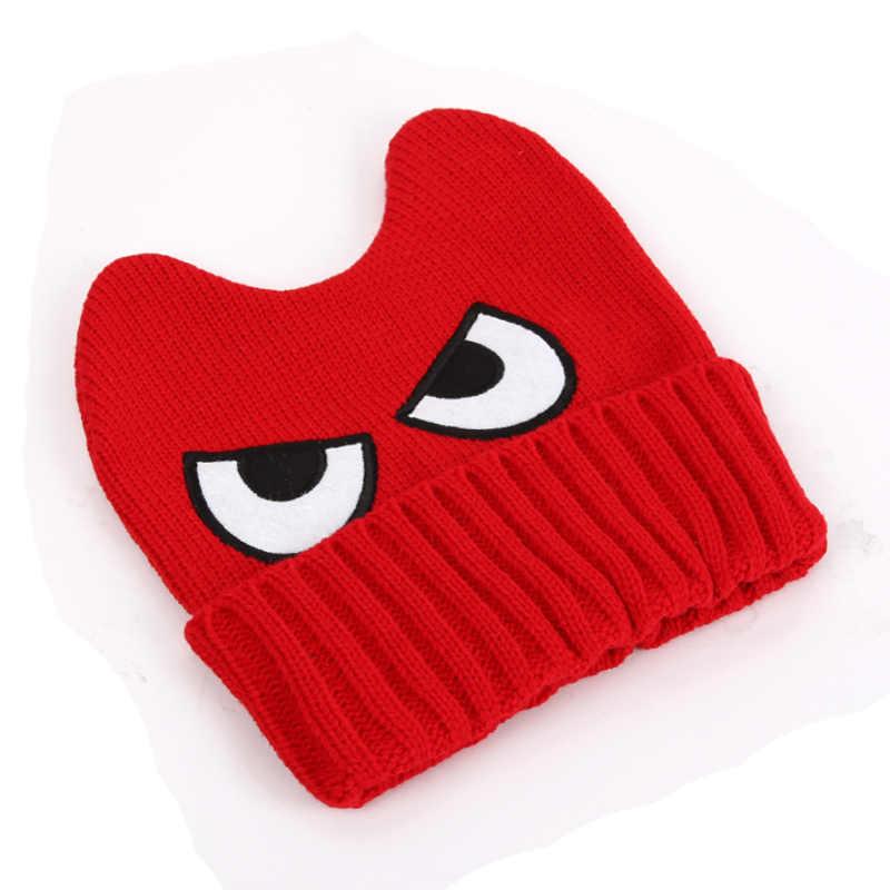 109d2e1d1 MezyTicky spring winter for children big eyes crochet caps Cartoon warm  baby beanie kids boy girls Knitted handmade Wool hats