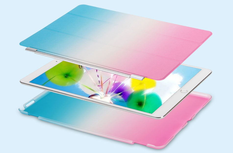 Rainbow Tablets Case For iPad Pro 10.5 iPad Air 3 10.5 2019 Color Pattern Smart Tri-folded Tablet Cover For iPad Pro 10.5 Cases-11