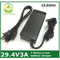 29.4v3a carregador carregador de bateria de lítio de 7 Séries 29.4 V 3A para 24 V bateria, bicicleta elétrica carregador de bateria de lítio