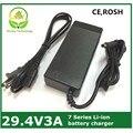 Cargador de batería de litio 29.4v3a 7 Series 29.4 V 3A cargador de 24 V batería, cargador de batería de litio bicicleta eléctrica