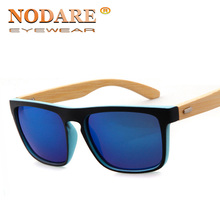 2019 New Bamboo Sunglasses Men Wooden Sun glasses Women Brand Designer Mirror Or