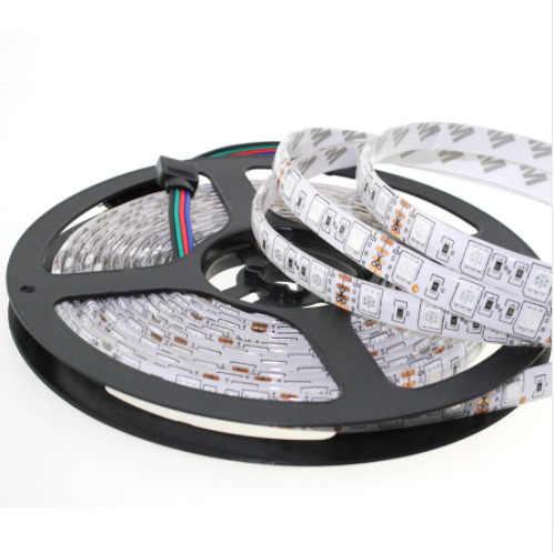 12 V Led pasek światła Pc 5050 Rgb 5m nie jest wodoodporny 60led/m taśmy Led Dc 12v światła taśma led diody taśmy elastyczne podświetlenie TV