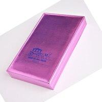 Professional 162 Colors Nail Art Color Book Chart Salon PU Gel Polish Tips Display Show Card Blank Platter Book Purple/gold