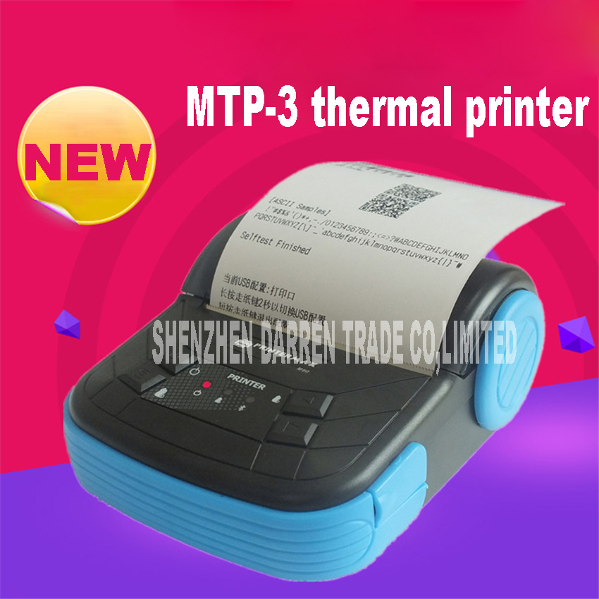 New Arrival Hot MTP-3 80MM mobile wireless Bluetooth Android IOS Receipt Thermal Printer Bill Machine for Supermarket Restaurant new hot thermal printer 5890t supermarket takeaway intelligent bluetooth food and beverage printer 90mm s 57 5 0 5mm 220v