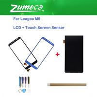 High Quality For Leagoo M9 LCD Display Screen +Touch Screen Digitizer Replacement Part Black Blue Color With Tape&Tool