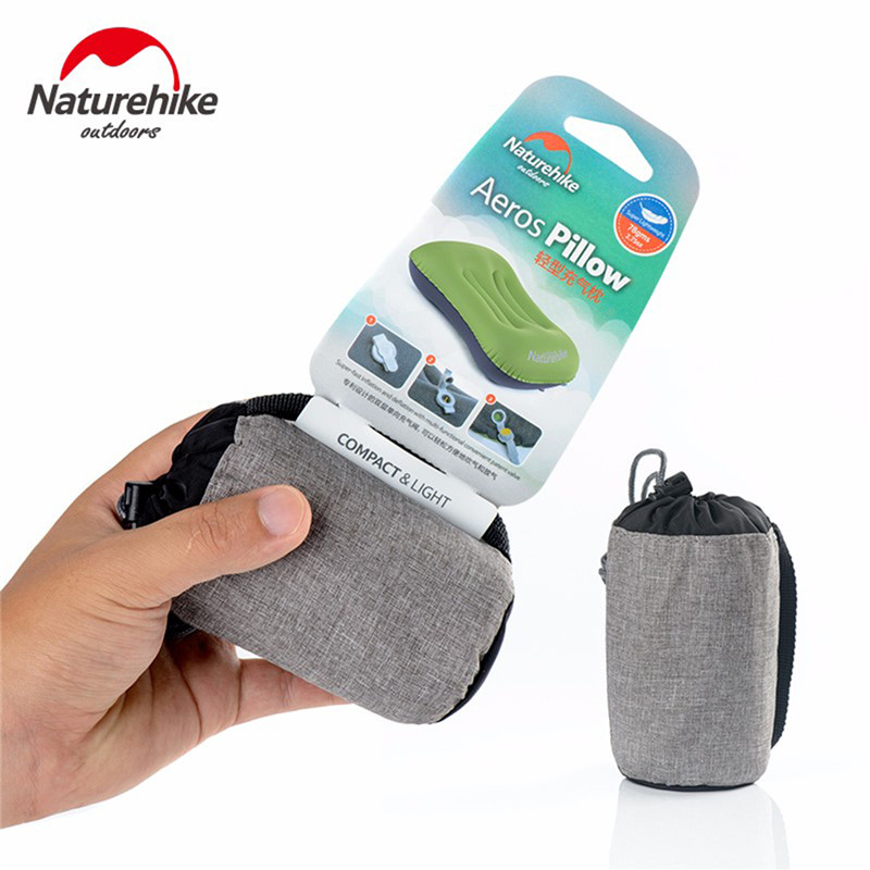 Image 4 - Naturehike Camping Mat Folding Inflatable Travel Air Pillow Neck Camping Sleeping Gear Fast Ultralight Portable TPU with Pocket-in Camping Mat from Sports & Entertainment