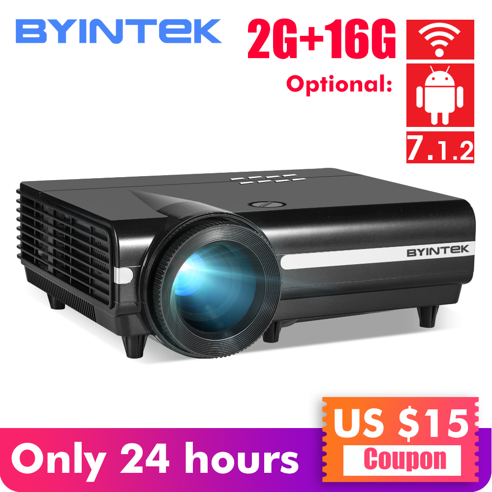 BYINTEK MOON BT96Plus Android font b Wifi b font Smart Video LED Projector Proyector For Home