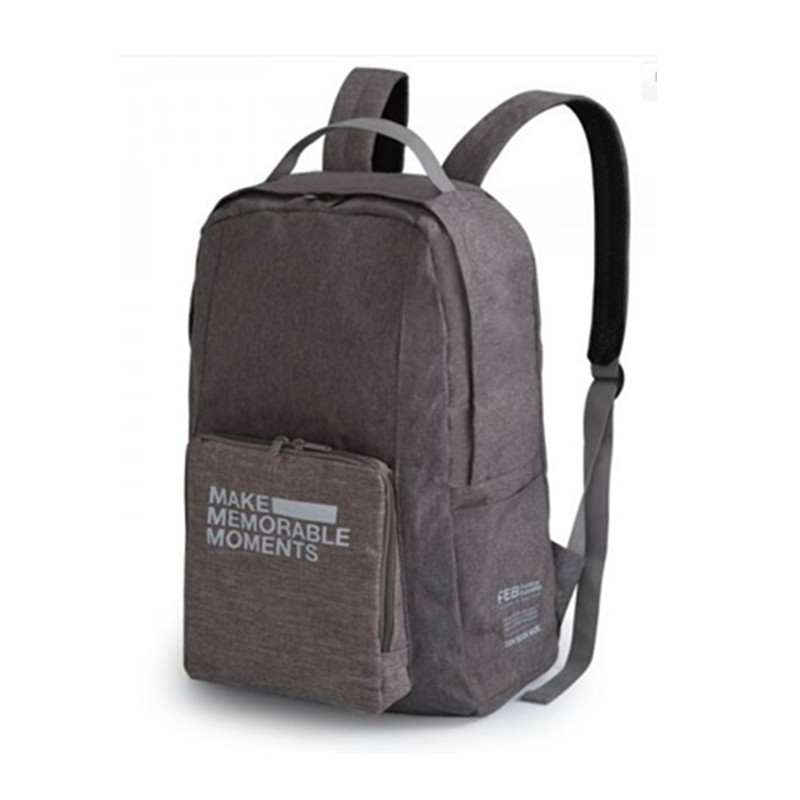 Portable Foldable Unisex Backpack Vintage Leisure Travel Bag Schoolbag For Teenagers Fashion Luggage Accessories Supply Product oxford thermal lunch bag insulated cooler storage women kids food bento bag portable leisure accessories supply product