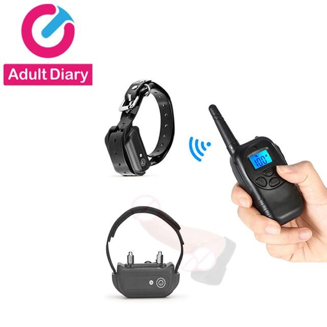 Diario para adultos Control remoto Electro estimulación anillo de pene cuello  Collar SM electrico Shock 1259d84723c