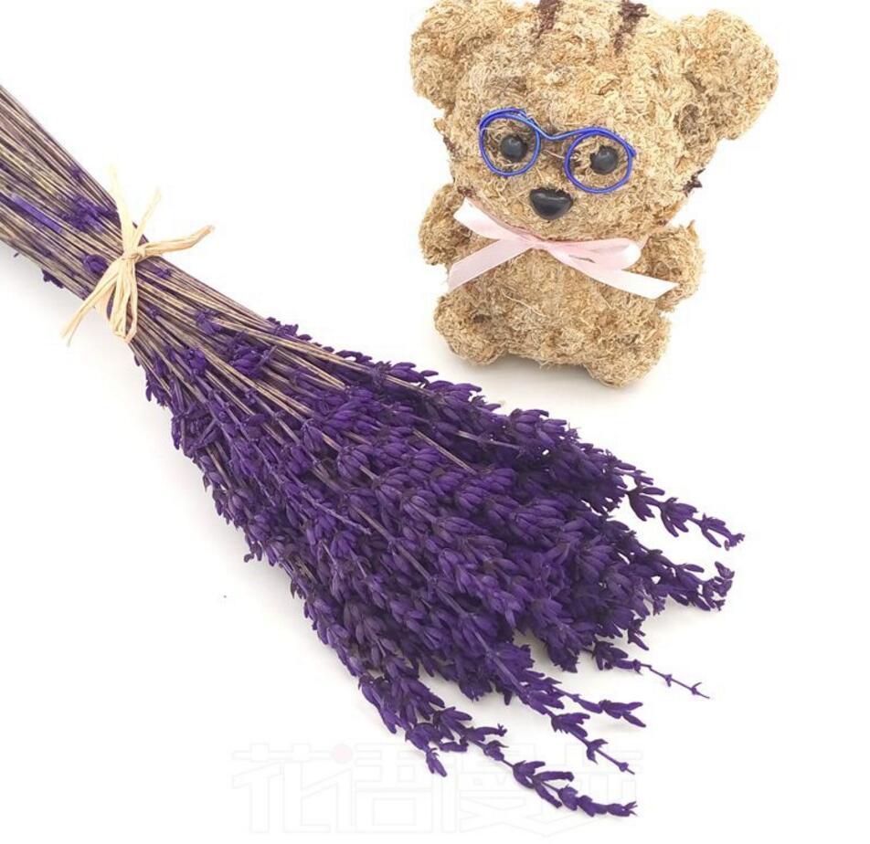 1 Bundle Bluepurple 50pcs Dried Lavender Flower For Wedding Party