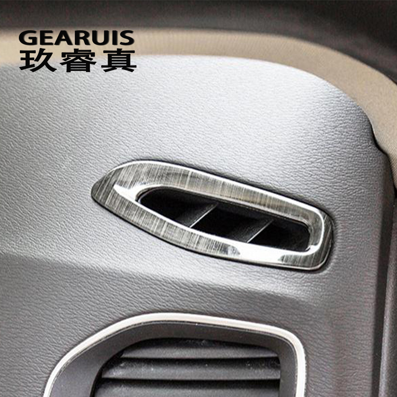 Car styling AC Outlet Trim Dashboard Air Outlet Frame Decorative Stickers Covers For Volvo V60 S60 Interior auto Accessories