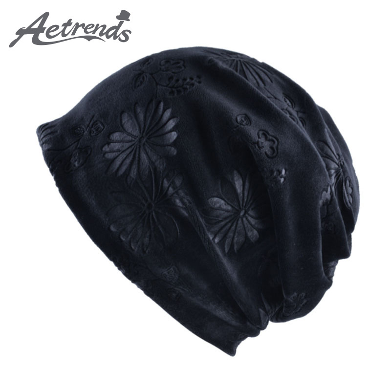 [AETRENDS] 2017 New Multi Style Hip Hop Beanies Skullies Collar Scarf Winter Hats for Women and Men Z-5943 skullies