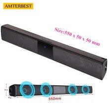 AMTERBEST Portable Bluetooth Speaker Wireless 3D Stereo Sound Bar Musica TV Del Computer Altoparlanti Support 3.5mm TF USB