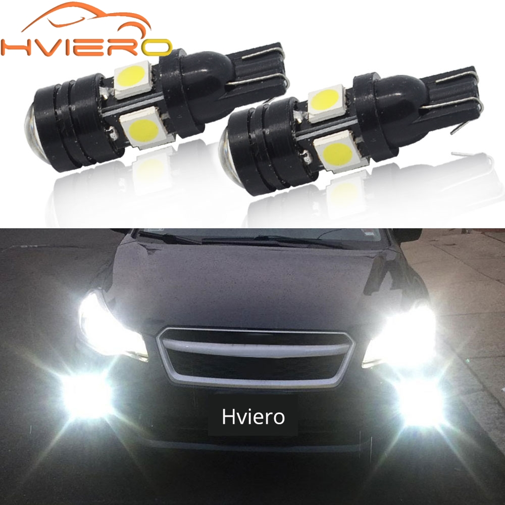 2X 168 192 T10 W5W LED 4SMD 5050 1.5W High power Super Bright Car Bulbs Auto Lamp width lamp license plate Lens Light scatter t10 5050 high brightness led yellow light lamp for car auto 6pcs pack