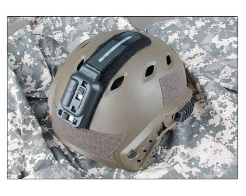 Tactical New LED Helmet Light White And Green Led Flashlight Lamp For Hunting