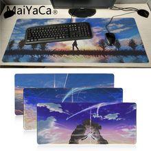 MaiYaCa mi Anime favorito tu nombre Kimi No Na Wa ordenador portátil Mousepad Gamer teclado para juegos alfombrilla ordenador tableta ratón pad