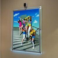(Упаковка/5 единиц) A2 односторонний настенный с подсветкой Ткань отображает, стены свет карманов для галереи, театра, розничных магазинах