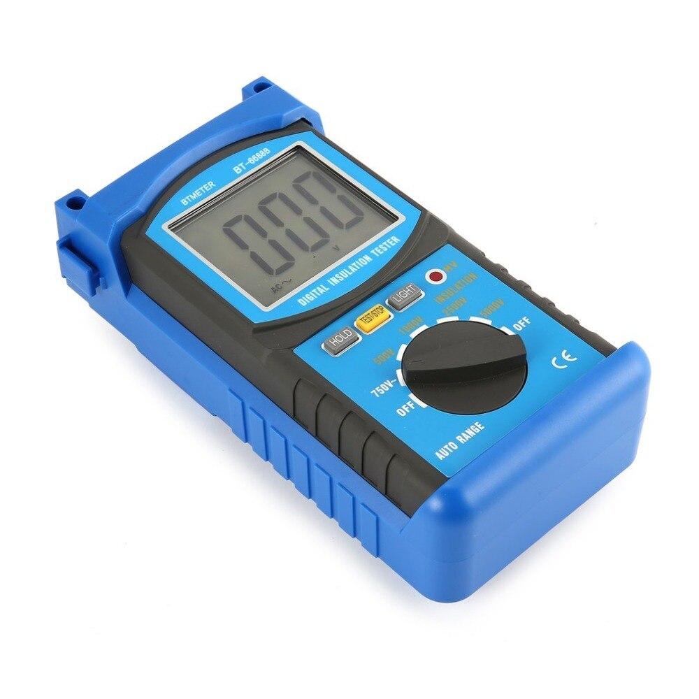 HoldPeak 6688C Digita Insulation Resistance Tester Resistance Meters250V/500V/1000V/2500V Megger Megohmmeter Voltmeter as907a digital insulation tester megger with voltage range 500v 1000v 2500v