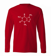 Sheldon men long sleeve T-shirt Caffeine Molecular Formula print science t shirt 2017 spring 100% cotton high quality men tshirt