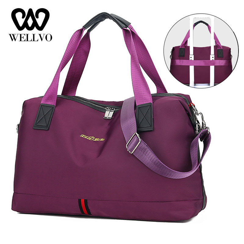 Hot Large Capacity Fashion Travel Bag For Women Weekend Bag Big Duffle Bag Travel Carry On Luggage Overnight Voyage Bag XA633WB