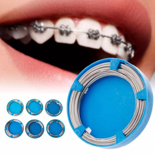 50g Dentaire Fil Pour Dents Orthodontiques Instruments Chirurgicaux En Acier Inoxydable 0.5-1.0mm