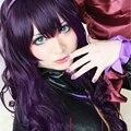 Code Geass Cornelia li Britannia Toradora! Nanako Kashii Hanayamata Yaya Sasame Curly Dark Purple 80cm Cosplay Wig