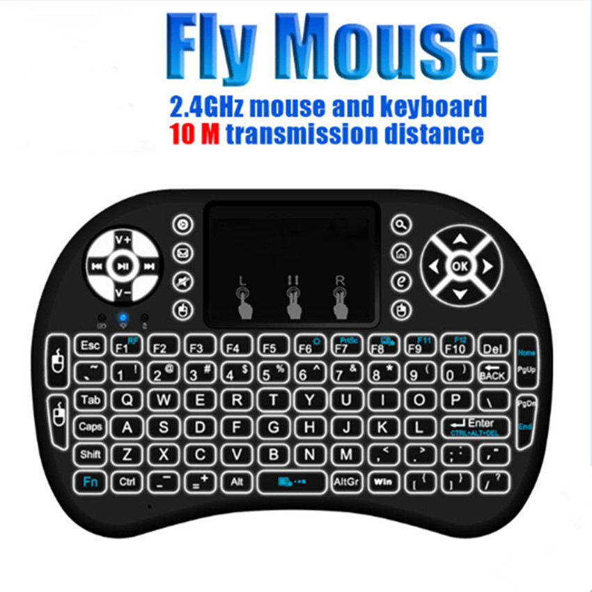 e55c7f46261 Super Limited I8 Backlit Wireless Keyboard 2.4g Air Mouse Backlight Touchpad  Remote Control for Android TV Box PS3 Gamepad 10pcs/lpt