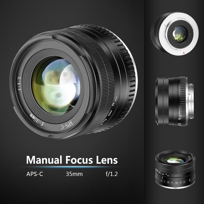 35 Mm F1.2 Grande Ouverture Premier Aps-c Lentille En Aluminium Pour Fuji X Montage Sans Miroir X-A1 X-A10 X-A2 X-A3 X-M1 X-M2 X-T1 X-T1