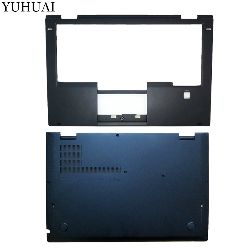 New case cover For Lenovo Thinkpad X1 Yoga Palmrest COVER 00JT863 SB30K59264/Laptop Bottom Base Case Cover SCB0K40141 00JT837 new case cover for lenovo z580 laptop series bottom case z585 base bottom palmrest cover