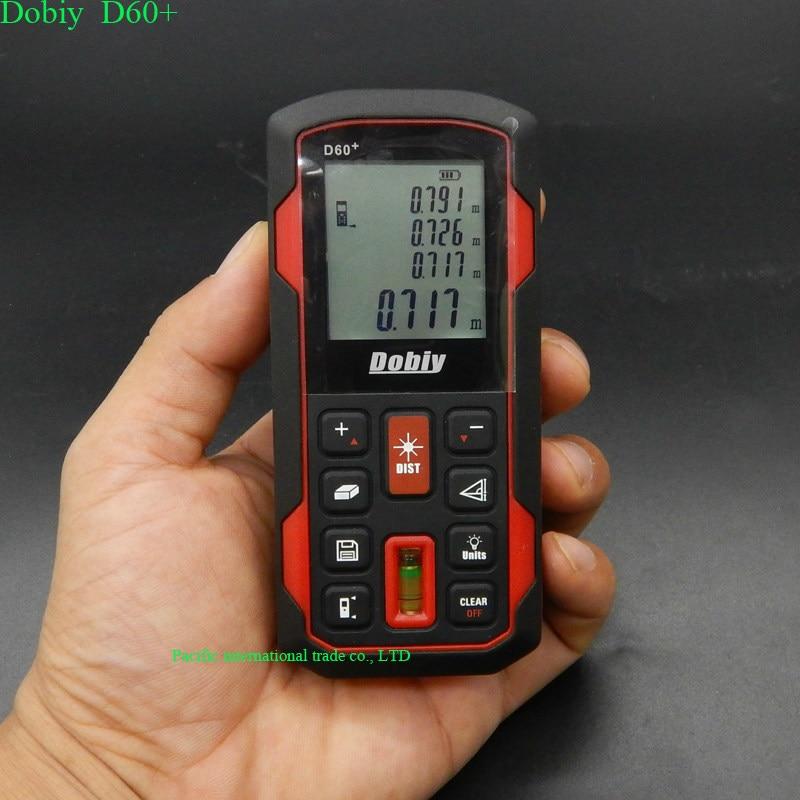 цены  Digital infrared Distance Meter 60M  Bubble Level Rangefinder Range Finder Tape Measure Area/Volume Laser diastimeter Dobiy D60+
