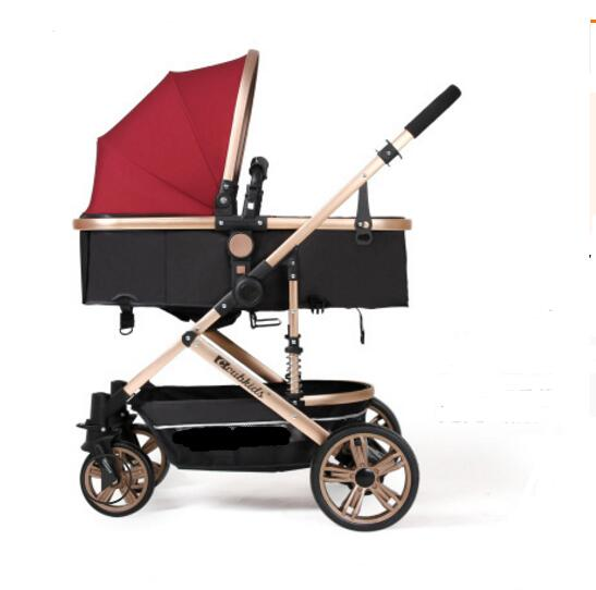 High landscape baby stroller can sit reclining stroller BB baby stroller folding two-way shock child trolley 0-3 years oldHigh landscape baby stroller can sit reclining stroller BB baby stroller folding two-way shock child trolley 0-3 years old