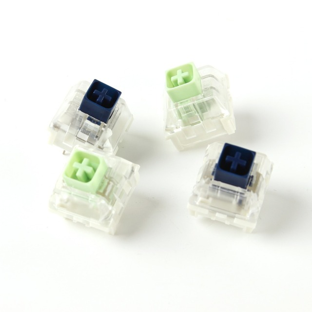 Wholesales Kailh Box Royal Navy Blue Jade Pink Crystal Box 3 pin Switches IP56 Water proof Compatible Cherry MX Switches