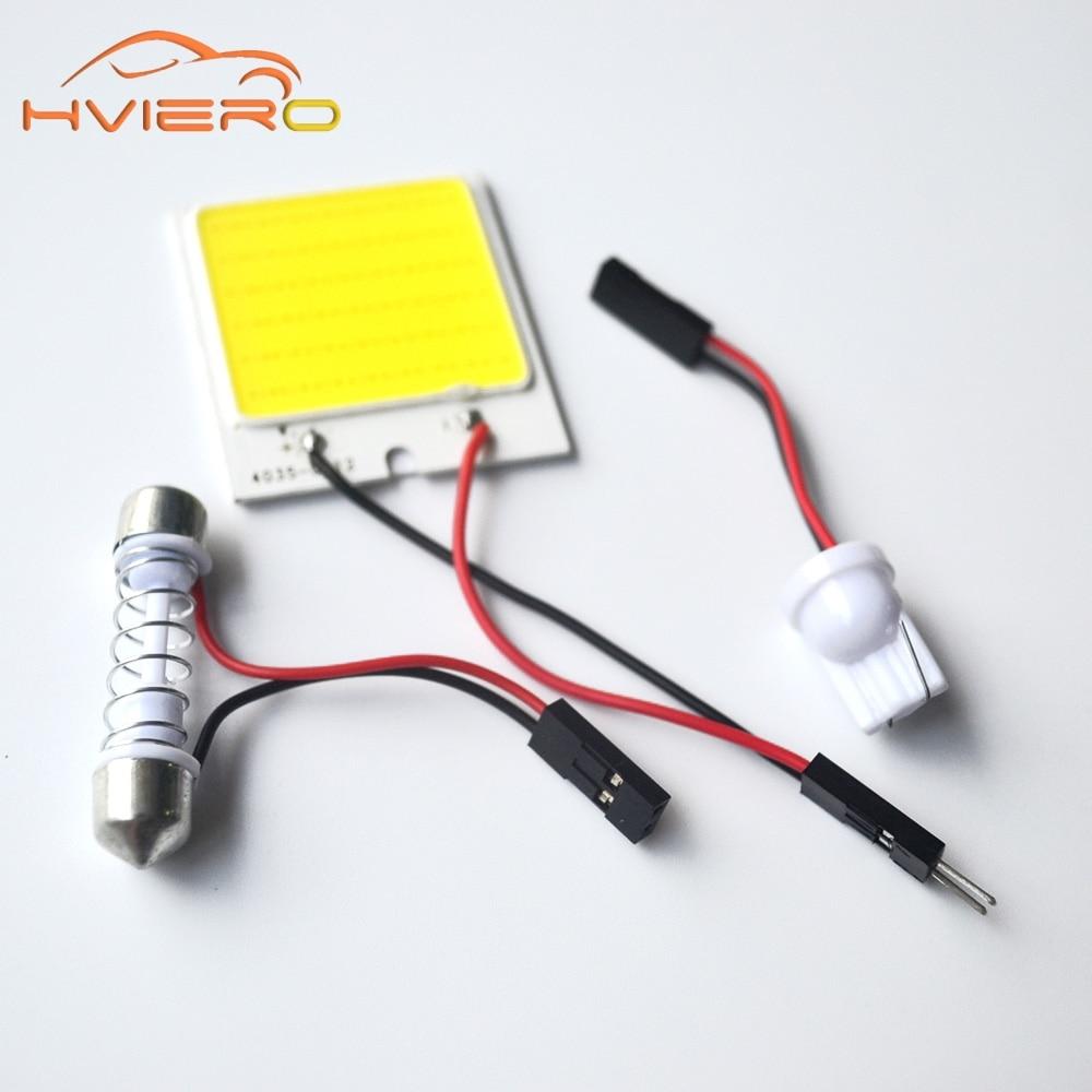1Pcs C5W cob 48 SMD chip White Reading Lamp led T10 Car Led parking Bulb Auto Interior Panel Light Festoon license plate lights