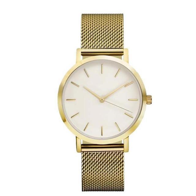 Fashion Women Crystal Stainless Steel Analog Quartz Wrist Watch Bracelet DEC19 3