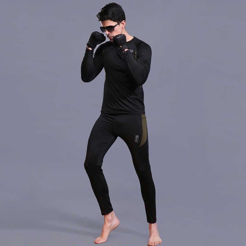 Pria Musim Dingin Hangat Thermal Underwear Set Bulu Cepat Kering Kemeja untuk Camping Trekking Mendaki Hiking Ski Pria Merek VA725
